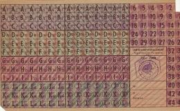 3X Tikets De Rationnement Guerre - Documents