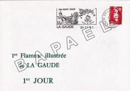 Enveloppe Premier Jour -France (La Gaude) (30-11-1991) - 1ère Flamme Illustrée De La Gaude (JS) - FDC