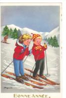 J. LAGARDE - Enfants, Ski, Bonne Année - Trés Bon ETAT - Autres Illustrateurs