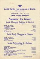 Programme Musique Militaire Guides De Belgique Garde Metropolitaine à Cannes 1933 - Documenten