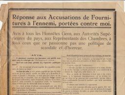 REPONSE Fourniture Ennemi Guerre Allemand Fourniture De Bière Au Front Brasserie Arme Metaux ... - Documents