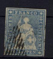 Schweiz Michel No. 14 II A ym gestempelt used / d�nne Stelle