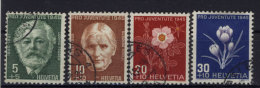 Schweiz Michel No. 465 - 468 gestempelt used