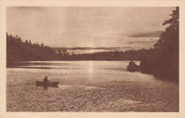 Missions, Man On A Boat, Coucher De Soleil, Ontario, Canada, 1910-1920s - Missions