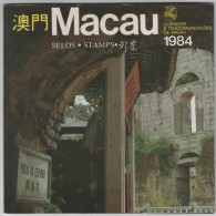 MACAO MACAU  1984  ANNÉE COMPLETE SANS LES B.F.  COMPLETE YEAR WITHOUT THE SHEETS - Macau