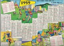 CALENDRIER/Coeurs Vaillants-Ames Vaillantes/ Edition Fleurus /Union Des Oeuvres Catholiques De France/ 1959       CAL140 - Calendarios