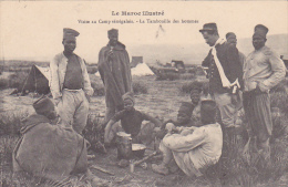 22584 MAROC ILLUSTRE -CAMP SENEGALAIS.tambouille Des Hommes - Schmitt Photo -africain Militaire Guerre - Guerres - Autres