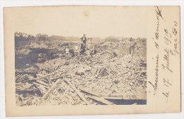 62 CP PHOTO ANNAY, GUERRE 14-18, RUINES Du VILLAGE En 1919, Animation - Autres Communes