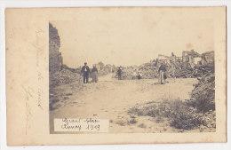 62 CP PHOTO ANNAY, GUERRE 14-18, RUINES Du VILLAGE, GRAND'PLACE, En 1919, Animation - Autres Communes