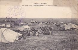 22588 MAROC DAR BEL HAMRI - Guerre Aux Avants Postes Le Souk Aux Grains Cachet Militaire Campagne Rabat