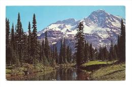 Cp, Etats-Unis, Mount Rainier And Mirror Lake, Voyagée 1963 - Etats-Unis