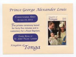 TONGA - 2014 - Baptême Du Prince Georges -  BF Neufs // Mnh - Tonga (1970-...)
