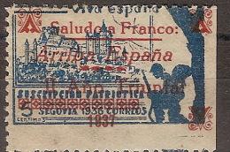 Locales Segovia Galvez 671 (*) Alcazar. Saludo A Franco - Vignette Della Guerra Civile