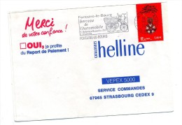 Lettre Flamme Fontaine Berceau Automobile - Postmark Collection (Covers)