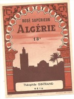 ALGERIE ROSE SUPERIEUR THEOPHILE GINTRAND SETE - Alcools