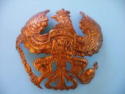 Plaque Prussienne De Casque à Pointe En Cuivre Du Modèle 1895 - 1914-18