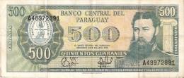 BILLETE DE PARAGUAY DE 500 GUARANIES DEL AÑO 1952  (BANKNOTE) - Paraguay