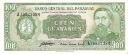BILLETE DE PARAGUAY DE 100 GUARANIES DEL AÑO 1952  (BANKNOTE) SIN CIRCULAR-UNCIRCULATED - Paraguay