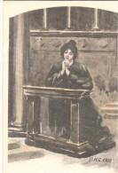 POSTAL   MUJER ORANDO    D.H.C. 1900 - Otros
