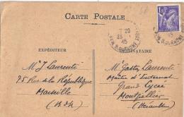 MR LAURENTI MARSEILLE  A MR GASTONLAURETNI MONTPELLIER  1945 - Commercio