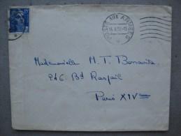Timbres France : Sur Lettre  Marianne De Gandon 15 F - 1945-54 Marianne De Gandon