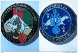 GENDARMERIE - OPEX AFGHANISTAN - MISSION POMLT 2010 GM (43mm) BRETAGNE - RARE - Policia