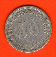 ** 50 Pfennig 1877 A **  KM 6 - Plata / Silver / Silber  - ALEMANIA / DEUTSCHLAND / GERMANY - 50 Pfennig