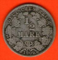 ** 1/2 Mark 1906 A **  KM 17 - Plata / Silver / Silber  - ALEMANIA / DEUTSCHLAND / GERMANY - [ 2] 1871-1918 : Imperio Alemán