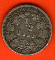 ** 1/2 Mark 1915 E **  KM 17 - Plata / Silver / Silber  - ALEMANIA / DEUTSCHLAND / GERMANY - [ 2] 1871-1918 : Imperio Alemán