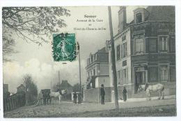 CPA - Samer - Avenue De La Gare Et Hôtel Du Chemin De Fer - Samer