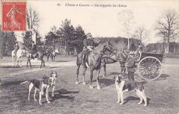 22610 Chasse à Courre -chasse Rappelle Chiens -40 Bourdier Faucheux Attelage Cor Cheval Meute