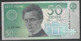 Estland Estonia Estonie 50 Krooni 1994 UNC Freimaurer All-Sehende Auge Rudolf Tobias - Estland