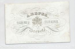 CARTE PORCELAINE - Carte De Visite Illustrée  -  A. Reper , Tailleur Civil Et Militaire à BRUXELLES --  C2/163 - Visiting Cards