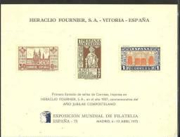 ESPAÑA- DOCUMENTO FILATELICO EXPOSICION MUNDIAL DE FILATELIA ESPAÑA 75 (S.G.F.) - Espagne