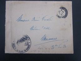 3-3-1917 Lettre Franchise Militaire CADM Service De Santé De La Plage: Le Médecin >pour Hôtel à Miramas - Marcophilie (Lettres)
