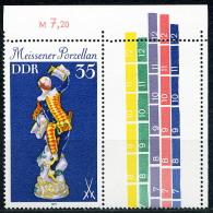 A07-30-2) DDR - Michel 2469L - ** Postfrisch Mit Leerfeld - 35Pf Meissener Porzellan - Wert: 2,00 Mi€ - Ongebruikt