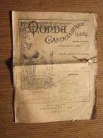 """13 Juillet 1895"""" Le Monde Gastronomique"""" Illustré Gazette Littéraire Artistique De Table Lire Sommaire En Sous-rubrique - Newspapers"""