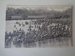 CPA AFRIQUE OCCIDENTALE HAUTE GUINÉE PÊCHE DANS UNE MARE - Guinea
