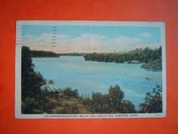 Post Card LEWISTON - The Androscoggin River, Below Libby Dingley Dam - Maine  - 1935 - Lewiston