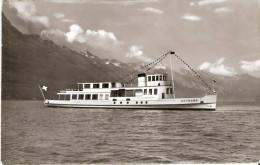 PostkaartZwitserland  B129 Brienzesee Schiff Rothorn - Ohne Zuordnung
