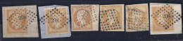 France1853-60: Yvert13(with Varieties)cancelled(lot Of 6) - 1853-1860 Napoleon III