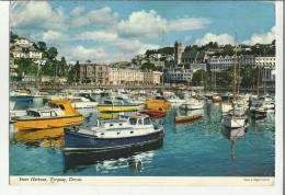 74955 Inner Harbour Torquay Devon Motoscafo Boat Barca - Inghilterra