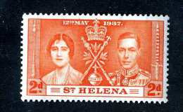 1451  St.Helena 1937  Scott #116  M* Offers Welcome! - St. Helena