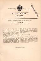 Original Patentschrift -  Georg Möller In Krautsand B. Drochtersen , 1892 , Kneifzange , Zange , Werkzeug !!! - Werkzeuge