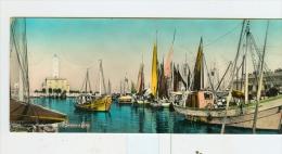 MARINA DI RAVENNA,Bacino E Faro-1957-Pescherecci!!!!!!!!- Cartolina F.to 20,7x8,8 Cm. - Ravenna