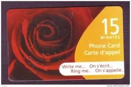 Canada, 2005, Télécarte, Fleur, Rose, Flower - Fleurs