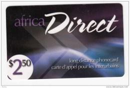 Canada, Africa Direct - Télécartes