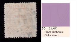 Brazil Scott   90 Used Fine Type I Lilac Horiz Lines Bkgrnd CV $3.00 - Brazil