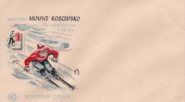 Australia 1960 Mount Kosciusko Plain FDC - Skiing