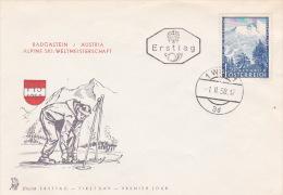 Austria 1958 Alpine Ski, Souvenir Cover - Skiing